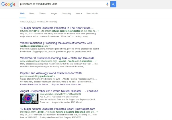 Google collapse search